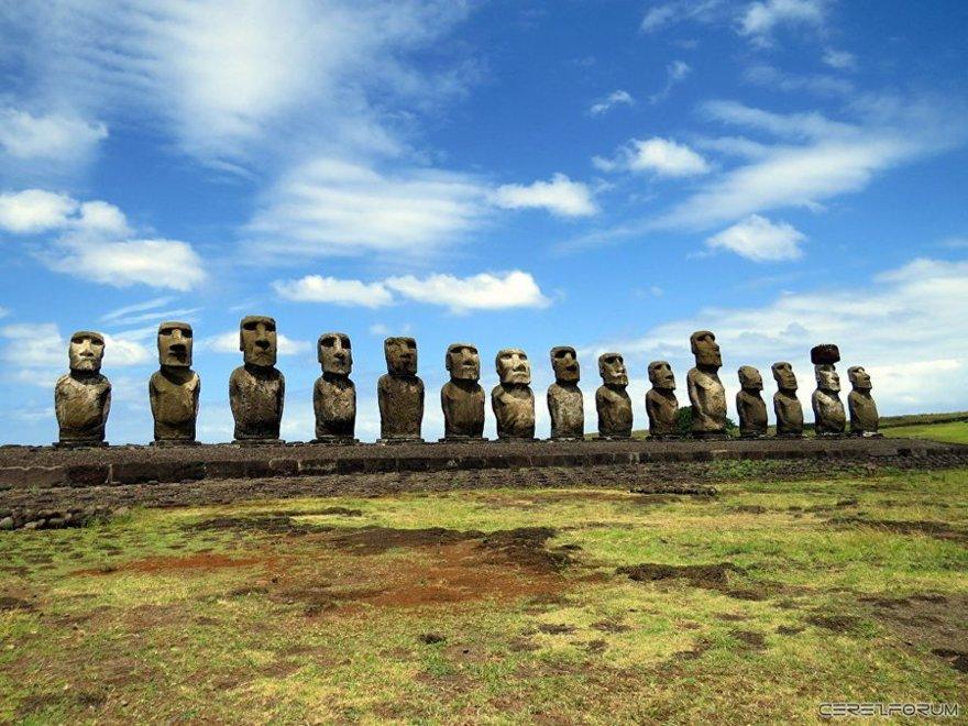 Moai insan heykelleri